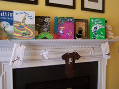 Baby shower idea: Ask guests to bring a book with message in it instead of cards to help starty baby library.