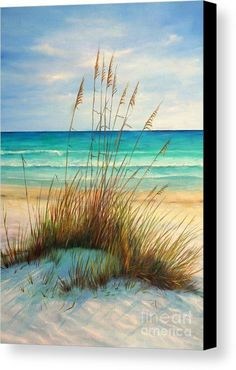 Siesta Key Beach Dunes Canvas Print by Gabriela Valencia. All canvas prints are professionally printed, assembled, and shipped within 3 - 4 business days and delivered ready-to-hang on your wall. Choose from multiple print sizes, border colors, and canvas materials.