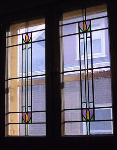 Edwardian-style windows in a bungalow