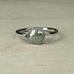 Rose Cut Diamond Engagement Ring by MonTresorNYC on Etsy, $700.00
