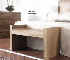 Bancos madera on pinterest wooden benches pies and benches for Bancos pie de cama baratos