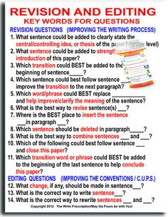 Revising & Editing Classroom Poster by The Writing Doctor, via Flickr