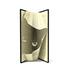 Book folding pattern - CATS HEAD - 155 folds + Tutorial with Simple pattern - Heart - Book Page Crafts, Book Page Art, Up Book, Book Pages, Book Folding Patterns Free, Paper Art, Paper Crafts, Cut Paper, Libros Pop-up