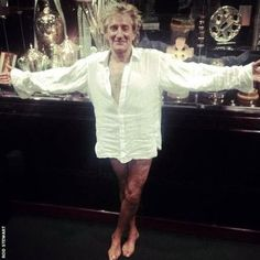 Rod can't believe his luck as he has a snap taken between performances