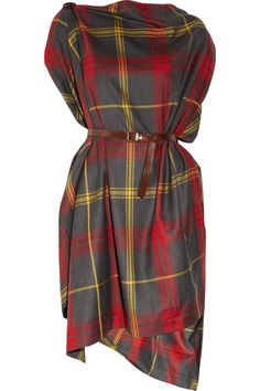 Vivienne Westwood Anglomania Rectangle Tartan Wool Dress in Red | Lyst