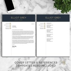 Resume Template With Headshot Photo  Cover Letter One Of Our