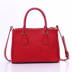 459c58a5b3 Authentic Prada Small Calf Saffiano Handbag BN2316 - Red at Modaqueen.com