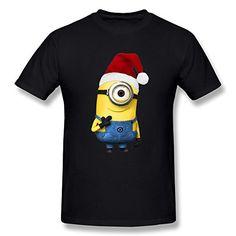 Jahei Custom Christmas Hat Minions Tshirt For Juniors Black XX-Large