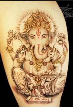 I like this tattoo of the hindu god ganesha. The story about it is beutiful
