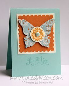 Love the butterfly die...and the Fresh Vintage/Everyday Enchantment products from the new Sale-A-Bration brochure -- by Julie Davison, http://juliedavison.com