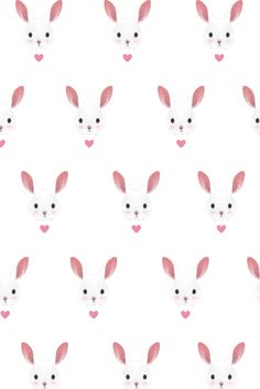Bunny Rabbit Background | Easter Seamless Pattern | Seamless Background.