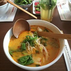 Hello again! I am back after some really hard weeks.  We had to #celebrate because we all passed our #yogateachertraining #exam in #Leipzig yesterday  What would be better than a hot #bowlofsoup at #umaii  I had the #coconut #curry #ramen and some #edamame  And now you can call me a #yogateacher  | #ramenlover #soup #soupforthesoul #japanese #japan #japanesefood #japanlover #asia #asianfood #soupporn #foodlover #foodie #foodporn #foodstagram #instafood #feedfeed #yoga #yogini #offthemat