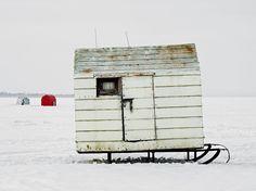 Toronto Photographer Richard Johnson's photos of Canada's ice fishing huts