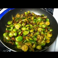 Shallot & Bacon Brussel sprouts.