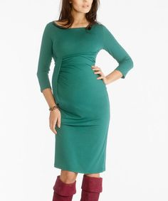 Another great find on #zulily! Malachite Emma Maternity Boatneck Dress by 9 Fashion #zulilyfinds