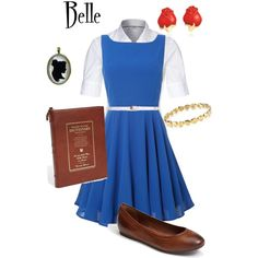 Belle: Disney's Beauty and the Beast. I would add yellow jewelry and belt