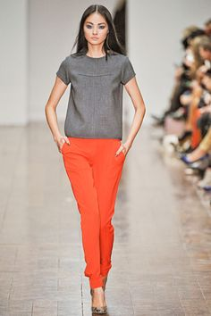 bright orange + dark grey