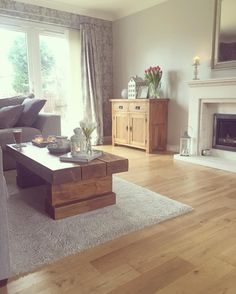 I don't usually like hard flooring in a living room but this looks really nice! New Living Room, Living Room Interior, Home And Living, Living Room Decor, Living Spaces, Living Room Flooring, Living Room Inspiration, Home Decor Inspiration, Style At Home