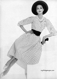 Charm Magazine March 1959. I'm still such a sucker for all things polka dot