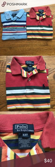 Polo Ralph Lauren set of two striped polos size 4T Polo Ralph Lauren set of two striped polos size 4T Polo by Ralph Lauren Shirts & Tops Polos