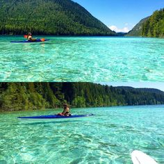 This secret lake in BC looks like a Caribbean paradise with its crystal clear, turquoise waters and stretch of glistening, white sand beach. Beautiful Places To Visit, Oh The Places You'll Go, Places To Travel, Johnson Lake Bc, Vancouver Travel, Vancouver Island, Voyage Canada, Sand Island, Canadian Travel
