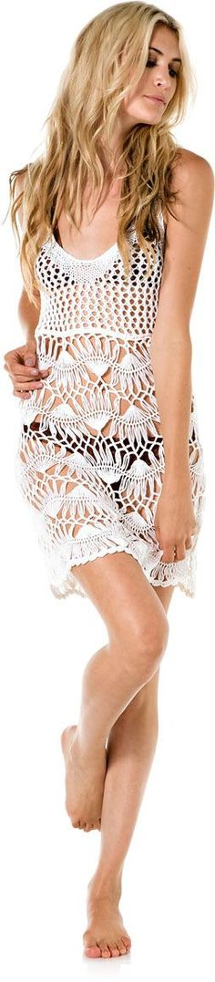 Tigerlily Blanca Crochet Dress --Soo cute for a beach coverup!