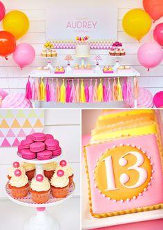 Fabulous Pink Gold Glitter Teen Birthday Teen birthday