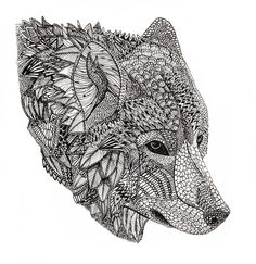 Tribal Wolf Art Print More Animal Coloring Pages Adult