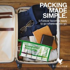 Travel around the world with Forever! Take the essentials with you in this convenience travel pack. Learn how you can make packing simple!
