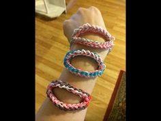#Rainbow loom #shark bite the #jaws #bracelet
