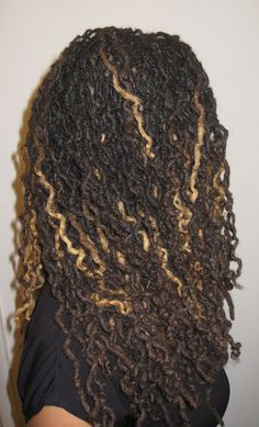 Loc styles | blonde highlights. I have these highlights and love them. Gives me some versatility.