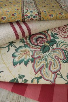Antique French Fabric Vintage Material Project Bundle Indienne Ticking | eBay
