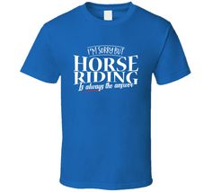 Horse Riding Is Always The Answer - Funny Horse Riding T-shirt | #Clothing #Men's Clothing #Shirts #T-shirts