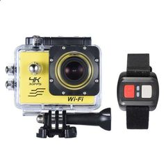 4K Camera 2 LCD Screen Wifi Action Camera 4X Zoom 16MP Sport Camera Waterproof 30M go pro Camera with Remote Control