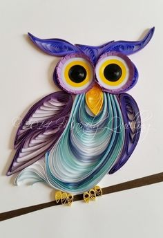 Quilled Purple Owl by Mainely Quilling