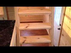"Slabtown Customs ""The Dubber"" tiny house. Interesting split-level kitchen, minimal ladder to loft."