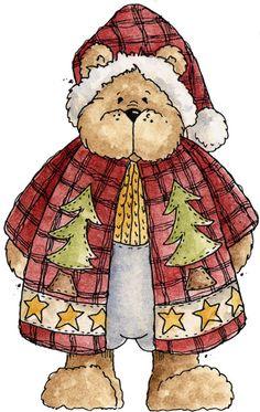 CHRISTMAS TEDDY BEAR CLIP ART