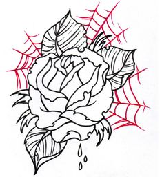Neo Traditional Rose Outline 2 by vikingtattoo on DeviantArt tattoo sketches Rose Outline Drawing, Tattoo Outline, Outline Drawings, Neo Traditional Roses, Traditional Tattoo, Traditional Ideas, Flower Tattoo Back, Flower Tattoo Designs, Rose Tattoos
