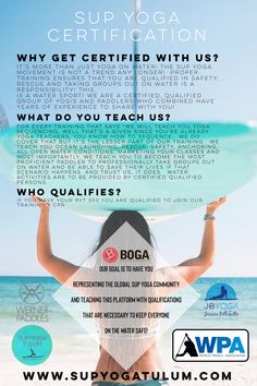 Learn to take your Yoga Teaching to the next level with SUP YOGA TEACHER CERTIFICATION! It's more than just yoga on water! 💦 Yoga Teacher Certification, Tulum Beach, Sup Yoga, Beach Road, Riviera Maya, Stand Up, Mexico, Train, Teaching