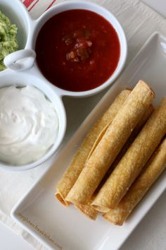 Gluten-free Baked Taquitos. Easy recipe for homemade taquitos for an appetizer or easy dinner.