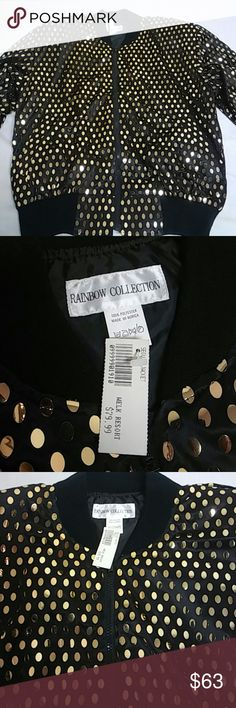 Cute jacket Fabulous sequin jacket new with tag eye catching Beautiful black and gold jacket welk resort Jackets & Coats