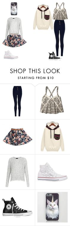 """Patterned outfits"" by amyhnsn ❤ liked on Polyvore featuring Abercrombie & Fitch and Converse"