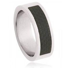 Bague acier Black Imperial - Murat Paris Steel, Rings, Black, Black Colors, Male Jewelry, Menswear, Jewelry Branding, Black People, Ring