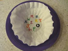 disappearing letters. write with marker on a coffee filter then use medicine dropper to make the letter disappear.