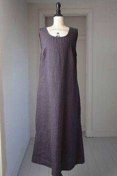 flax pocketed angle dress