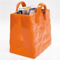 Colour Pop Accessories Magazine Holder, Orange