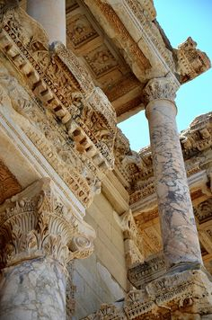 Turkish Efes) was an ancient Greek city, and later a major Roman city, on the west coast of Asia Minor Ancient Greek City, Ancient Rome, Ancient Greece, Baroque Architecture, Ancient Architecture, Beautiful Architecture, City Aesthetic, Travel Aesthetic, Pretty Pictures