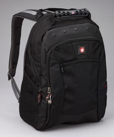 Take a look at this Black Spark Computer Backpack by Swiss Gear on #zulily today!
