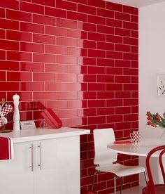 Linear Red Gloss Tile