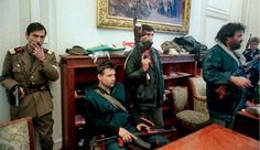 Soldiers and civilians occupy the office of ousted Romanian leader Nicolae Ceausescu in the capital Bucharest on Dec. 26 1989 the day after he was executed Romanian Revolution, World Conflicts, New Mods, Bucharest, Eastern Europe, World History, The Office, Old Photos, The Past